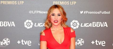 Berta Collado en los Premios de la Liga Profesional de Fútbol 2013