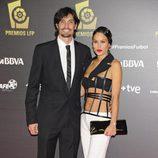 Felipe López y Mireia Canalda en los Premios de la Liga de Fútbol Profesional 2013
