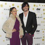 Mireia Canalda y Felipe López en un acto de la joyería Rabat