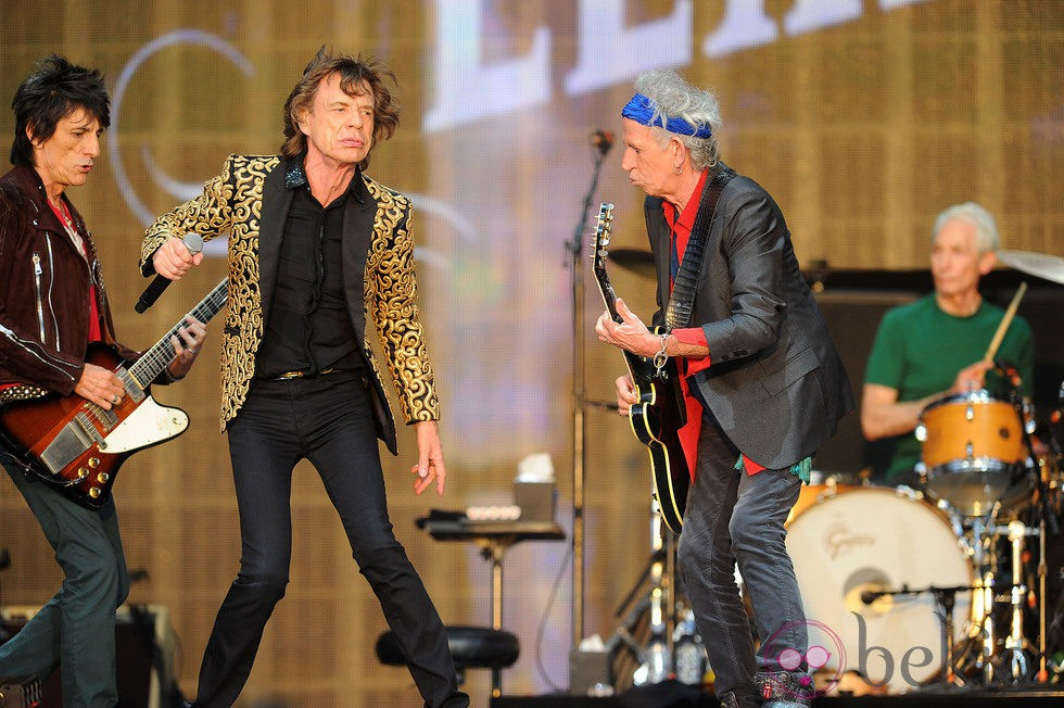 The Rollings Stones en un concierto