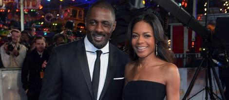 Idris Elba y Naomie Harris en la premiere de 'Mandela, del mito al hombre' en Londres