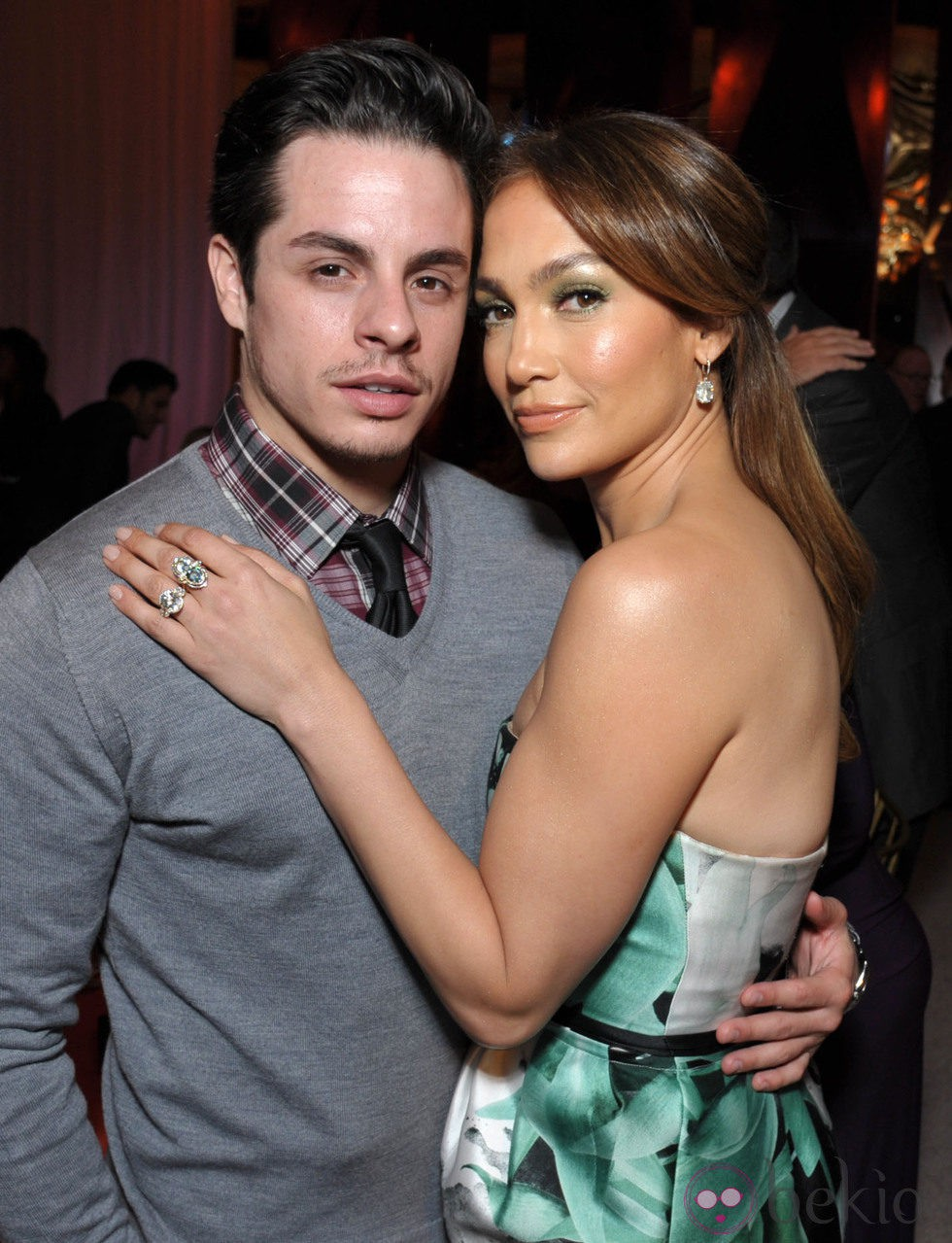 Jennifer Lopez y Casper Smart en la fiesta 'Celebration of Babies' en honor a Jennifer Lopez