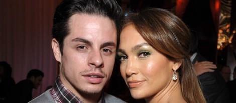 Jennifer Lopez y Casper Smart en la fiesta 'Celebration of Babies' en honor a Jennifer Lopez