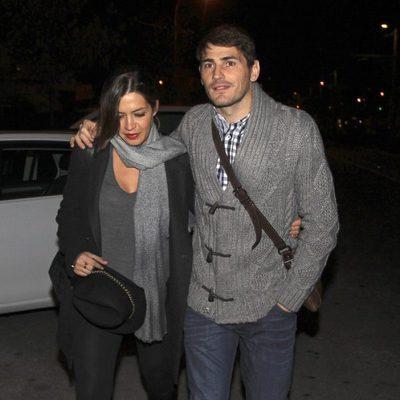 Iker Casillas y Sara Carbonero paseando por Madrid antes de ser padres