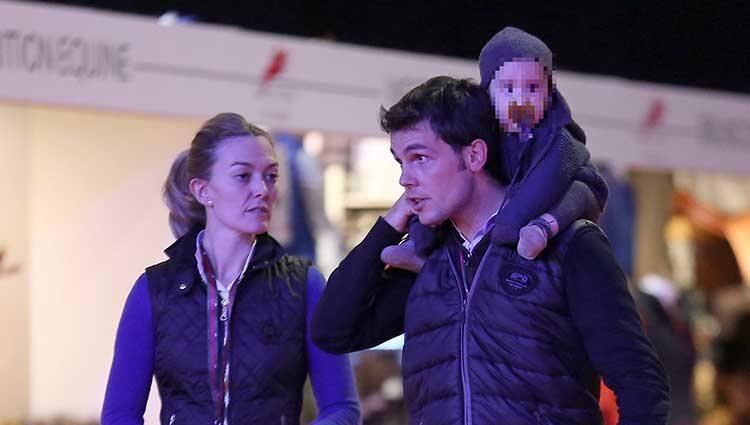 Marta Ortega y Sergio Álvarez con el pequeño Amancio en el Master Gucci 2013