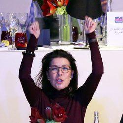 Carolina de Mónaco muy alegre en el Master hípico de París