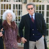 Los Duques de Alba en el 80 cumpleaños de Curro Romero