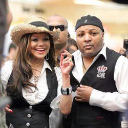 La Toya Jackson y Jeffre Phillips durante un evento