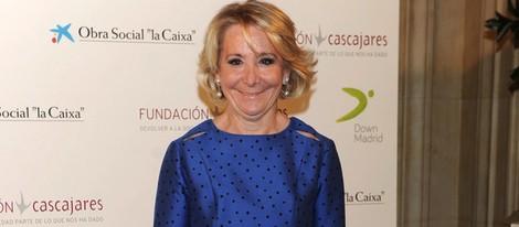 Esperanza Aguirre en la subasta de capones de Cascajares 2013