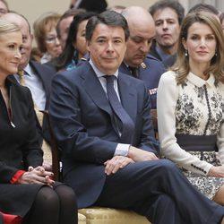 Cristina Cifuentes, Ignacio González y la Princesa Letizia en la entrega de las Medallas de Oro de las Bellas Artes