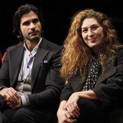 Javier Conde y Estrella Morente en la presentación de 'Morente más Morente'