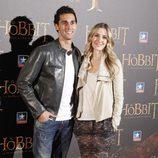 Álvaro Arbeloa y Carlota Ruiz en el estreno de 'El Hobbit: La Desolación de Smaug' en Madrid
