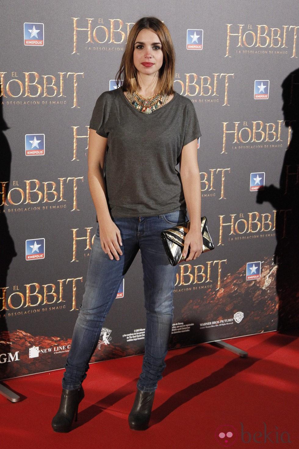 Elena Furiase en el estreno de 'El Hobbit: La desolación de Smaug' en Madrid