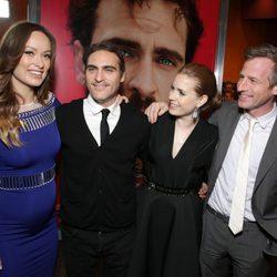 Olivia Wilde, Joaquin Phoenix, Amy Adams y Spike Jonze en el estreno de 'Her'
