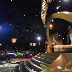 Escenario donde se celebró el funeral de Nelson Mandela en Qunu