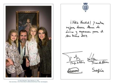 Felicitación navideña de los Príncipes de Asturias y las Infantas Leonor y Sofía 2013