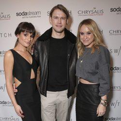 Lea Michele, Chord Overstreet y Becca Tobin en un acto benéfico organizado por la asociación Chrysalis