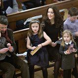 Federico, Mary, Christian, Isabel, Vicente y Josefina de Dinamarca en un concierto de Navidad