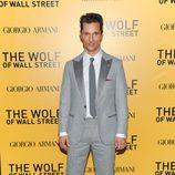 Matthew McConaughey en el estreno de 'El lobo de Wall Street' en Nueva York