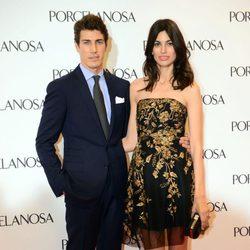 Oriol Elcacho y Davinia Pelegrí en la inauguración de una tienda en Barcelona
