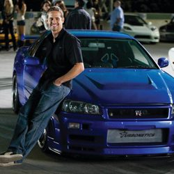 Paul Walker con el Nissan Skyline en 'A todo gas 4'