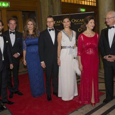 La Familia Real sueca en el homenaje celebrado con motivo del 70º cumpleaños de la monarca
