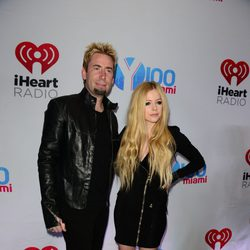 Avril Lavigne y Chad Kroeger en el Jingle Ball 2013 en Florida
