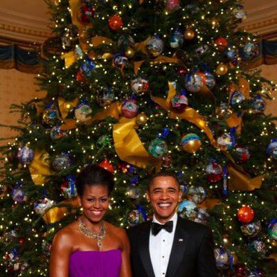 Barack y Michelle Obama felicitan la Navidad 2013