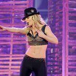 Britney Spears en la primera actuación de su espectáculo 'Piece of Me'