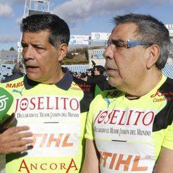 Los Chunguitos durante el partido solidario toreros vs artistas celebrado en Getafe