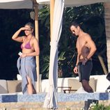 Jennifer Aniston, Justin Theroux y Courteney Cox en Los Cabos, México