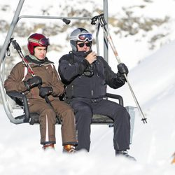 Carlos García Revenga esquiando en Baqueira Beret