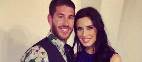 Sergio Ramos y Pilar Rubio felicitan 2014