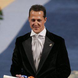 Michael Schumacher recogiendo el Premio Príncipe de Asturias 2007