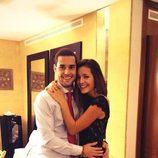 Malena Costa y Mario Suárez celebrando la llegada de 2014