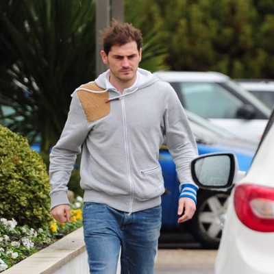 Iker Casillas en el Hospital Ruber Internacional antes de ser padre