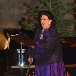 Montserrat Caballé en el concierto benéfico 'Voces para la esperanza' en Barcelona
