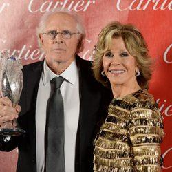 Bruce Dern y Jane Fonda en la gala de premios del Festival Internacional de Palm Springs 2014