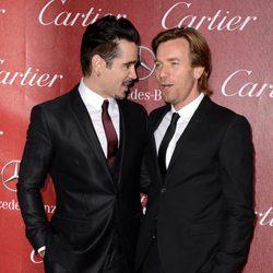 Colin Farrell y Ewan McGregor en la gala de premios del Festival Internacional de Palm Springs 2014