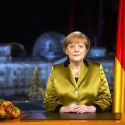 Angela Merkel durante el discurso de Navidad 2013