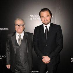 Martin Scorsese y Leonardo DiCaprio en los National Board of Review 2014
