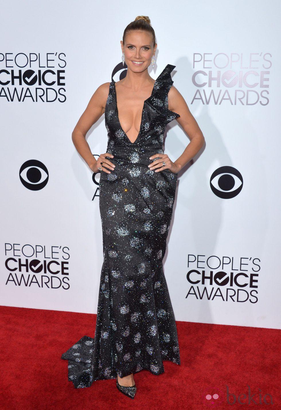 Heidi Klum en la alfombra roja de los People's Choice Awards 2014