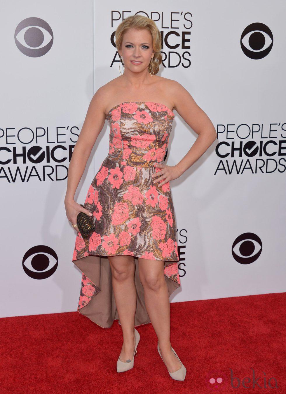 Melissa Joan Hart en la alfombra roja de los People's Choice Awards 2014