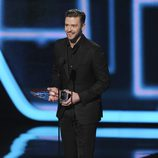 Justin Timberlake en la gala de los People's Choice Awards 2014