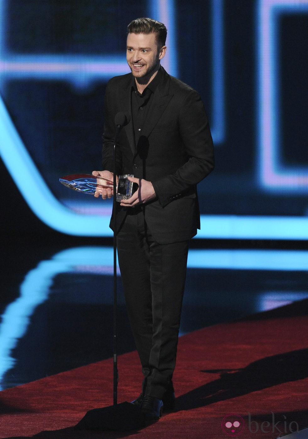 Justin Timberlake en la gala de los People's Choice Awards 2014