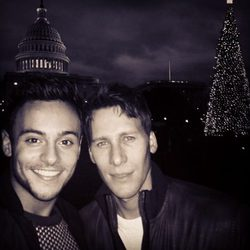 Tom Daley y Dustin Lance Black en Washington