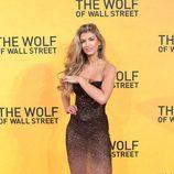 Amy Willerton en la premiere de 'El lobo de Wall Street' en Londres