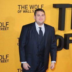 Jonah Hill en la premiere de 'El lobo de Wall Street' en Londres