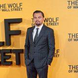 Leonardo DiCaprio en la premiere de 'El lobo de Wall Street' en Londres