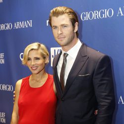 Elsa Pataky y Chris Hemsworth  en la tercera gala benéfica  'Sean Penn & Friends HELP HAITI HOME
